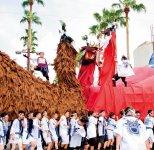 和霊大祭・うわじま牛鬼まつり:毎年7月22日から始まるまつり。3日目(最終日)には、親牛鬼パレードが行われる