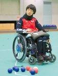 高橋選手は、ボッチャを始めて2年で2015年日本選手権大会優勝、世界選手権大会で日本人初の2位、16年のリオパラ出場の実力者だ