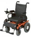 屋内外で走行できる電動車椅子「EMC-260/270」は、直感的に操作でき、安全性と快適性を追求した普及型モデル