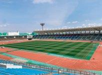 サッカーJリーグの徳島ヴォルティスの本拠地、ポカリスエットスタジアムのグラウンド管理も担当
