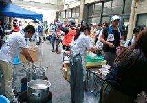 昨年7月の集中豪雨の際、ボランティアが集まり、商工会議所青年部と女性会で炊き出しを行った