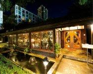 敷地面積1600㎡の広大な敷地に建つ、タイのすき焼き・しゃぶしゃぶレストラン「WAGYU SAMURAI」。来店客の7割は現地タイ人が占める