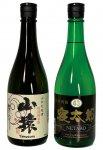 同市を代表する地元の銘酒「山猿」(左)と「米焼酎寝太郎」