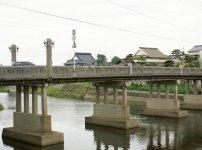 厚狭川を渡る旧山陽道の橋、鴨橋