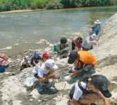 化石のまち 化石の観察や採集ができる野外学習地