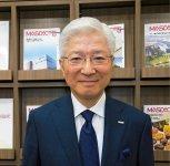 マスダックの増田文治社長。「どこの国でもつくれるお菓子のノウハウを供給できるようになれば、海外でのシェアも上がっていきます」