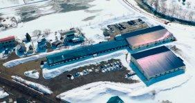 道央メタル全景。2005年8月、美唄工作所と武井製作所が合併して現在の社名となった