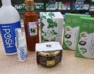 秋田の企業が開発した健康食品も積極的に扱っている