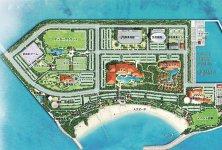 東部海浜開発地区:スポーツコンベンション拠点を目指す人工島「潮乃森」(開発予定図)