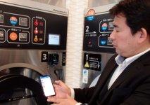 スマホアプリで、IoT対応洗濯機を遠隔操作できる。洗濯終了のお知らせやクーポンもスマホに直接配信される