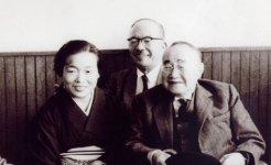 先代女将の楠子さんと吉田茂首相(当時)
