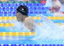 世界新で制した、世界パラ水泳選手権・男子100m平泳ぎ決勝で力泳する山口選手 撮影:吉村もと