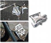 三ヶ島製作所の製品:ツーリングバイクにurban platform(左上) さまざまな用途にallways(左下) 競輪競技にsupreme(上)