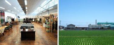 一宮市内にある木玉毛織の敷地内にある「尾州のカレント」の新見本工場。尾州産地の新たな拠点として2020年11月に誕生