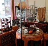 店内にはお茶を楽しめる茶房コーナーもあり、お茶のセミナーも開催している