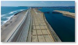 松川浦の海岸防災林(復旧工事):2020(令和2)年3月に完成。施工は草野建設