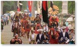 相馬野馬追:総大将・相馬氏の出陣の様子。毎年7月に開催