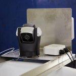 樽の上に設置したライブカメラで、もろみの状況が外出中でも目で確認できる