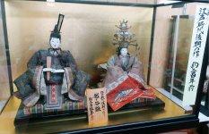 約200年前につくられたひな人形。大火の後も蔵に残っていた