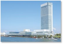 新潟商工会議所がある万代島ビル周辺