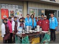 勝田全国マラソンで無料提供しているコーヒーは、大会の名物ともなっている