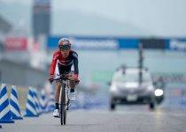 「2019日本パラサイクリング選手権ロード大会」の杉浦選手。好記録で優勝 撮影:小川和行