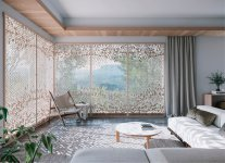日本の美と自然がテーマの新商品「麻の葉ちらし」。18種のデザイン、3つのタイプから選べるオリジナルのデザインシリーズだ