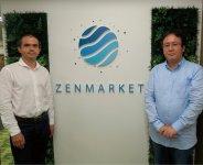 ゼンマーケット代表取締役のコーピル・オレクサンドルさん(左)と、ゼンプラス事業部営業担当の北川将一さん