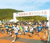 奄美大島商工会議所(鹿児島県)では、平成21年から「奄美観光桜マラソン」を実施。地域の魅力を堪能できる演出とターゲットを絞った集客作戦により、県外からの参加者・宿泊客獲得に成功している。