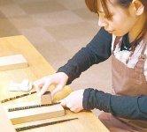 若狭塗箸の研ぎ出し体験