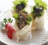 開発レシピの「牡蠣くるみサンド」