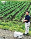 ドローン撮影画像で収穫適期などを判断