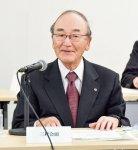 小泉大臣にエネルギー政策について意見を述べる三村会頭