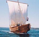 1992(平成4)年に竣工し復元した千石船「気仙丸」