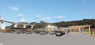 2023(令和5)年春開業予定の「広域道の駅」(完成予想図)