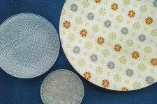 伝統工芸品グランプリ作品の硝子皿