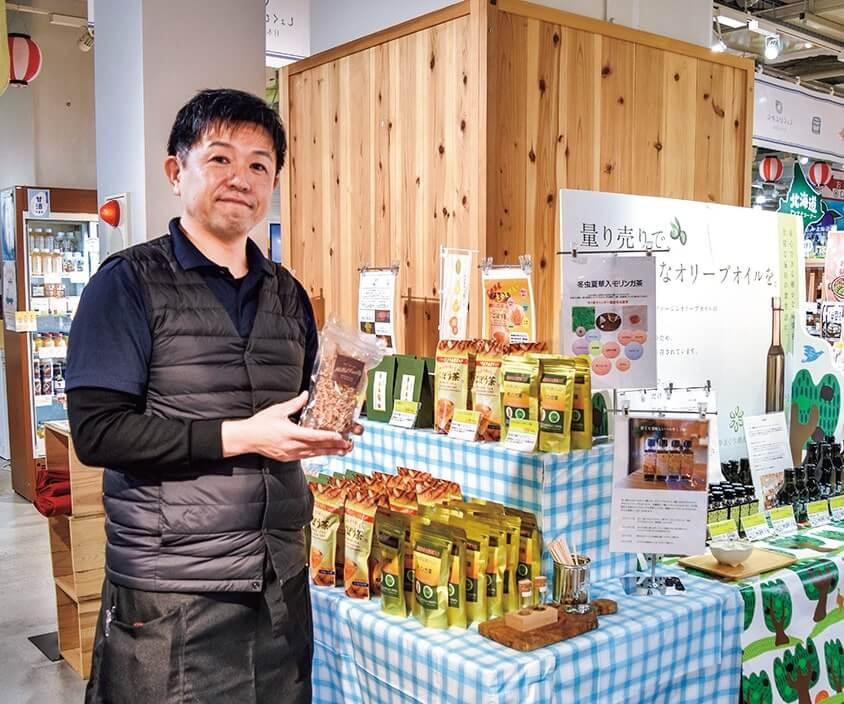 事業者の一押し商品をPRする宮崎商工会議所の小川誠司さん