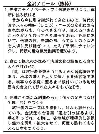 金沢アピール(抜粋)