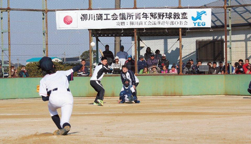 長谷川選手との夢の対戦に大盛り上がり