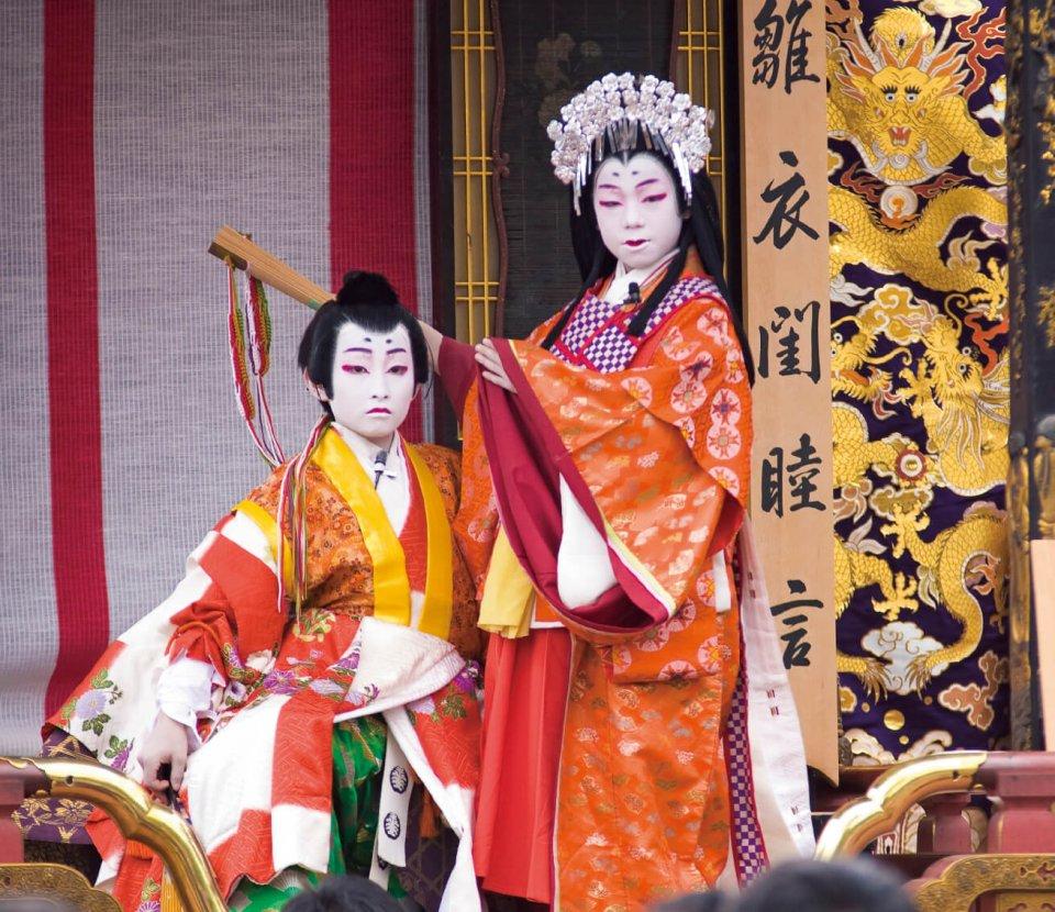 400年の歴史を持つ「長浜曳山まつり」での子ども歌舞伎