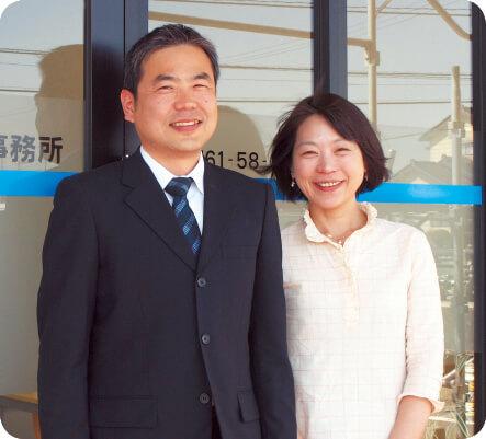 南一栄税理士事務所 南 一栄さん(左)