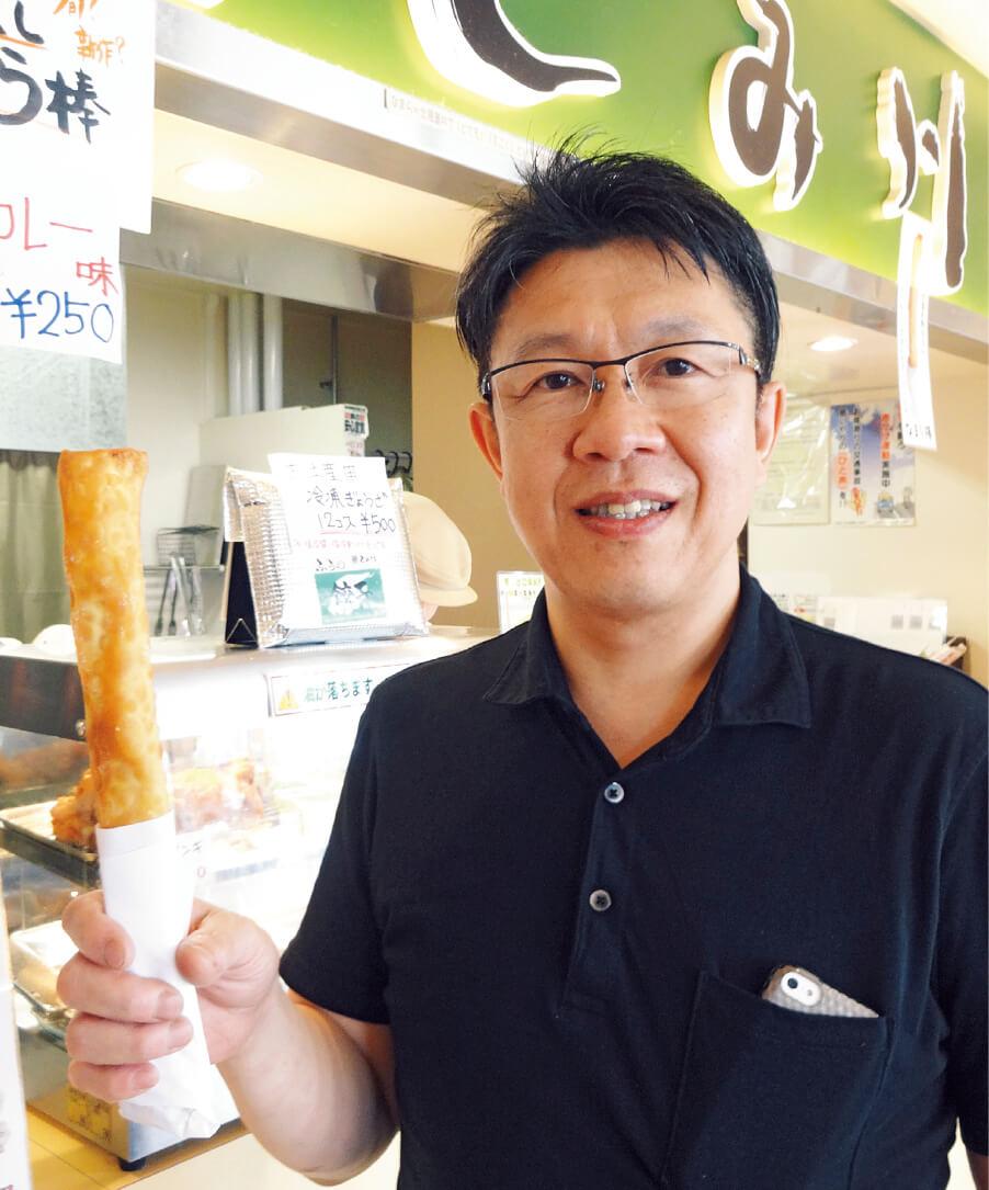 フラノマルシェ名物「なまら棒」を開発し、大ヒットさせた富川哲人さん。富良野市麓郷に本店を置く「らぁめん とみ川」の店主を務める