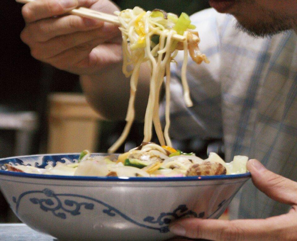 久留米は、ちゃんぽんのまちでもある。このスープが久留米ラーメンにも影響を与えたとされている