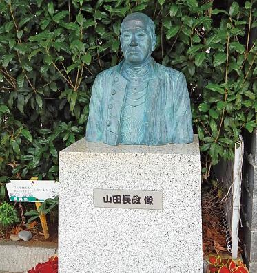 静岡浅間通り商店街には山田長政の胸像も