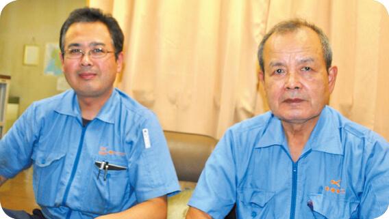 株式会社ケーエスケー 代表取締役 楠 健治郎さん(右) 専務取締役 伸治さん