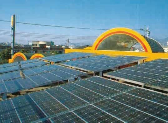 ガソリンスタンドとして全国初の太陽光発電装置を導入したASK アルプス通りSS