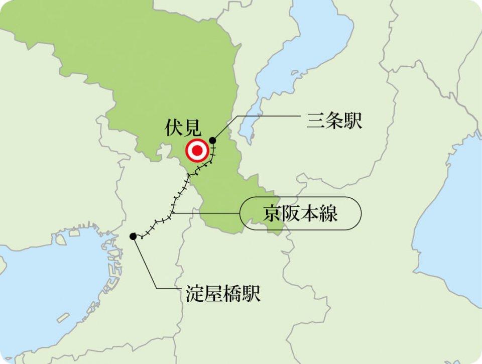 撮影場所 伏見桃山駅〜中書島駅間