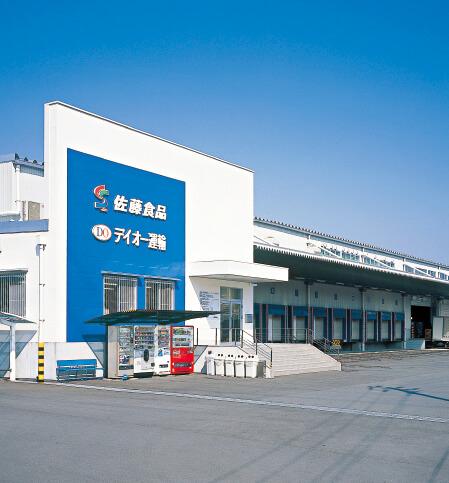 各地より視察が多いスーパーとして名高いハローデイとの共配センターの役割も持つ、福岡県宮若市にある宮田配送センター