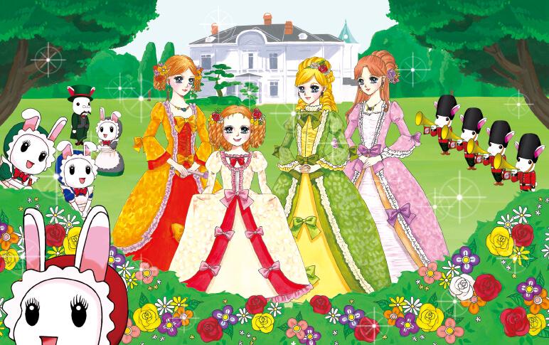 「とっとり山の手物語 華貴婦人」に登場する華の4姉妹。同じデザインのリアルドレスをイベントや展示会などで着用するなど、このキャラクターをいたるところで活用している