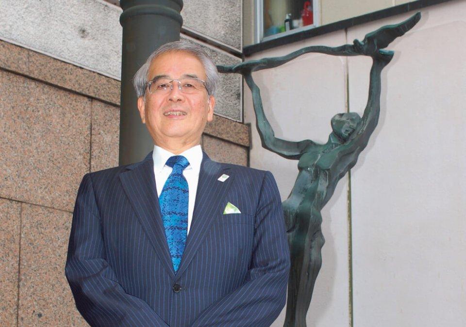 """「当社の創業の心である""""全て人からしてほしいと思うことは、人にもその通りせよ""""をこれからも忘れずに続けていきます」と永田さん"""